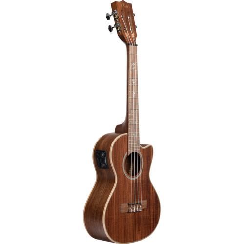 KALA Satin/All Solid Acacia Cutaway Electric Tenor Ukulele with EQ