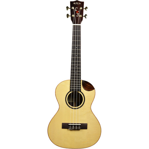 KALA Solid Spruce Top / Solid Rosewood Scallop Cutaway Tenor Ukulele