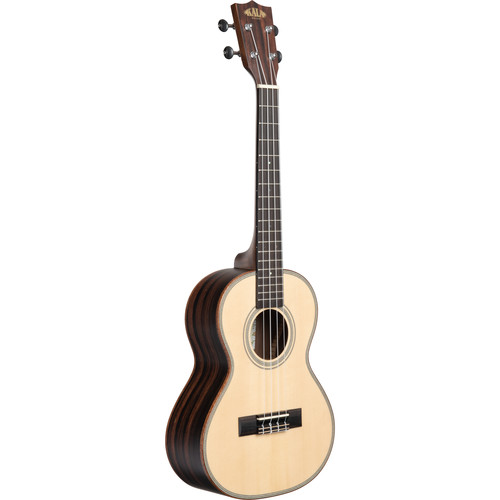 KALA Satin/Solid Spruce/Striped Ebony Tenor Ukulele