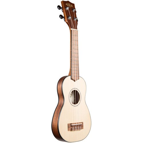 KALA KA-SSTU-S Solid Spruce Travel Soprano Ukulele with Bag