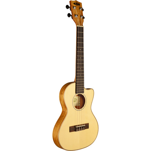 KALA KA-SSTU-SMT-C Thinline Travel Tenor Cutaway Ukulele with Travel Bag