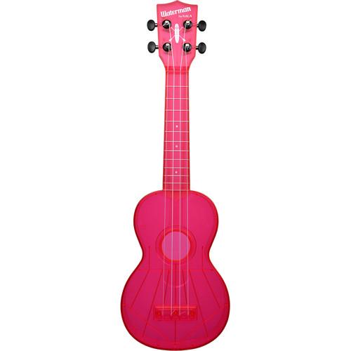 KALA KA-SWF-PK Fluorescent Soprano Ukulele (Watermelon Pink)