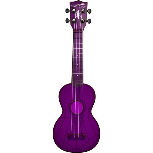 KALA KA-SWF-PL Fluorescent Soprano Ukulele (Purple Grape)