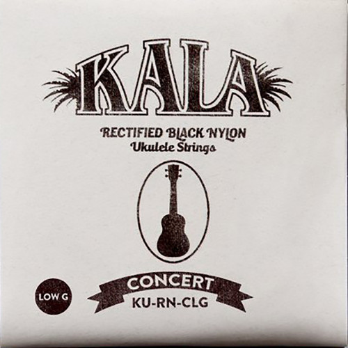 KALA Rectified Black Nylon Strings for Concert Ukulele (4-String, 26 - 36, Low G)
