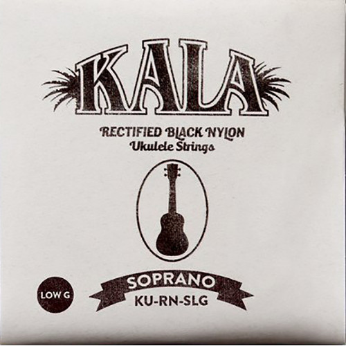 KALA Rectified Black Nylon Strings for Soprano Ukulele (4-String, 28 - 40, Low G)