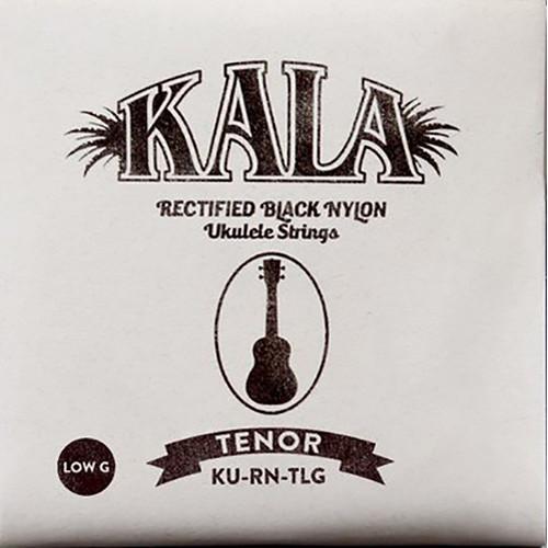 KALA Rectified Black Nylon Strings for Tenor Ukulele (4-String, 28 - 36, Low G)