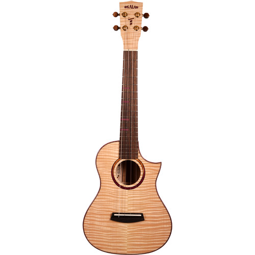 KALA MAPL-T-3C-C Three Cord Strand Maple Tenor Cutaway Ukulele (Cured Gloss)