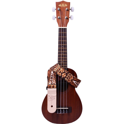 "KALA Handmade Instrument Strap (1.5"", Brown Tapa)"