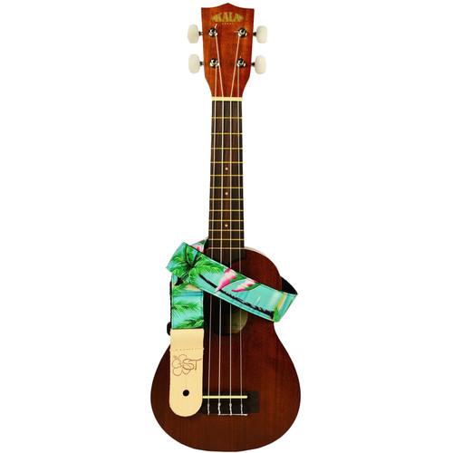 """KALA Handmade Instrument Strap (1.5"""", Tropical/Flamingos)"""