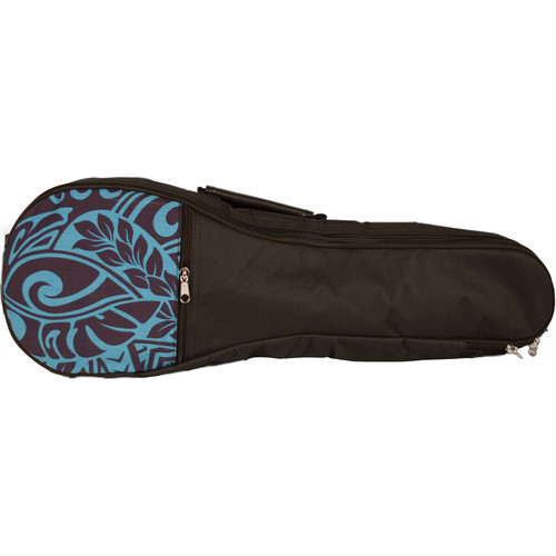 KALA Hawaiian Accent Padded Bag for Soprano Ukulele (Blue Tribal)