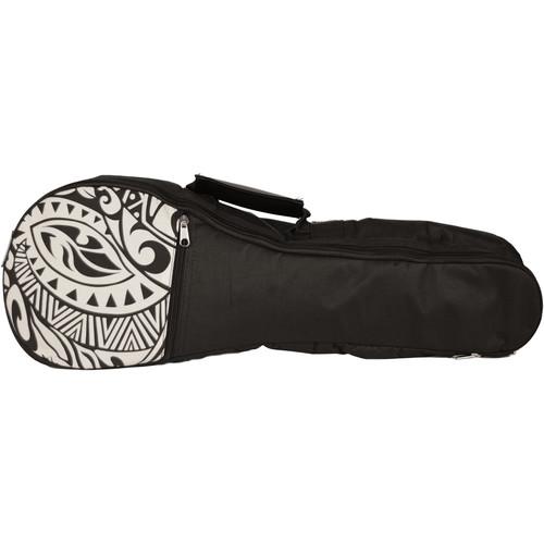 KALA Hawaiian Accent Padded Bag for Concert Ukulele (Cream Tribal)