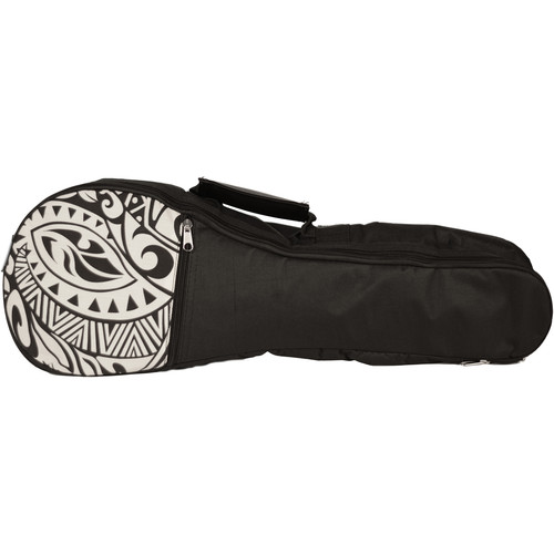 KALA Hawaiian Accent Padded Bag for Tenor Ukulele (Cream Tribal)