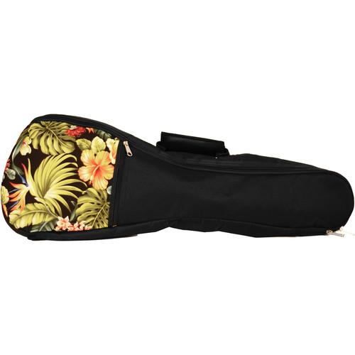 KALA Hawaiian Accent Padded Bag for Soprano Ukulele (Floral)