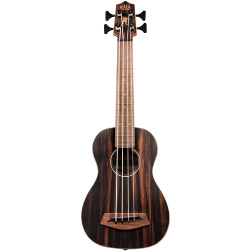 KALA UBASS-EBY-FSRW Striped Ebony Acoustic-Electric U-BASS with Round Wound Strings