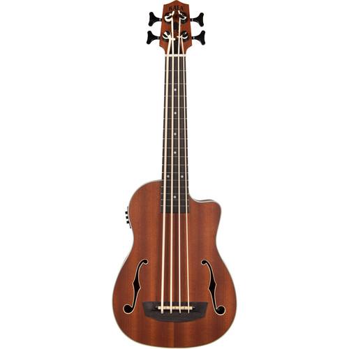 KALA UBASS-JYMN-FS Journeyman Acoustic/Electric U·Bass with F-Holes and Padded Gig Bag