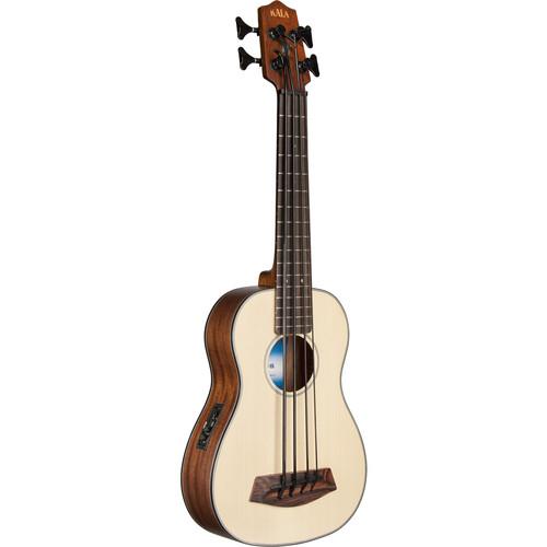 KALA UBASS-SSMHG-FS Spruce Top Mahogany Acoustic/Electric U-Bass (Fretted)