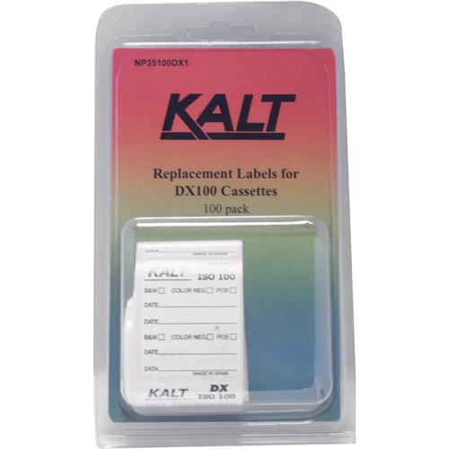 Kalt DX100 Cassette Labels (Pack of 100)