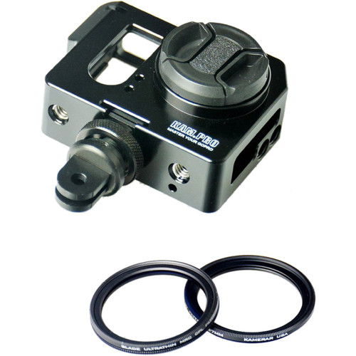 Kamerar KamPro Pico Cage with UV and CPL Filters for GoPro Hero 3/3+ Camera