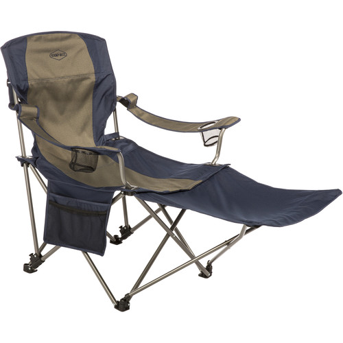 KAMP-RITE Folding Chair with Removable Foot Rest