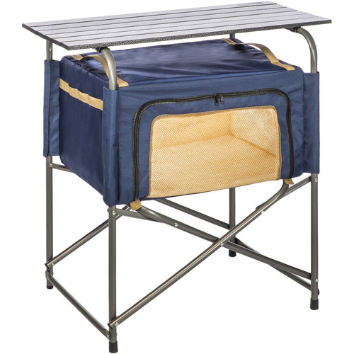 KAMP-RITE Ez Prep Table with Soft Storage Cabinet