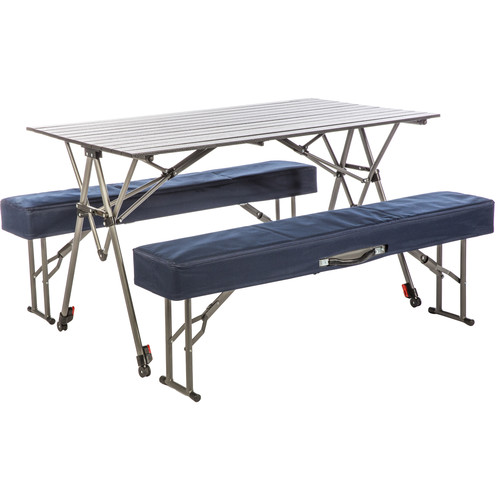 KAMP-RITE Kwik Set Table with Folding Benches