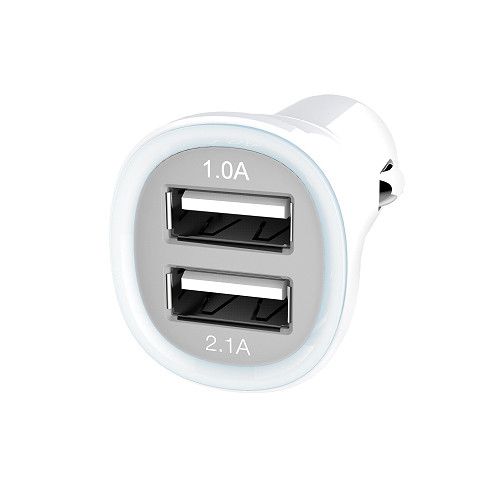 Kanex 2-Port USB Car Charger (White)