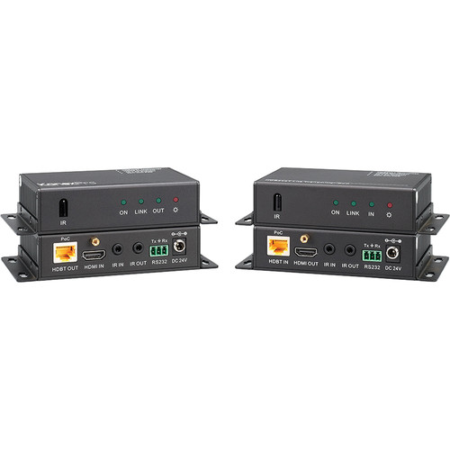 KanexPro HDBaseT Lite 70M HDMI Extender Set with 4K/Digital Audio/IR/PoE over CAT6