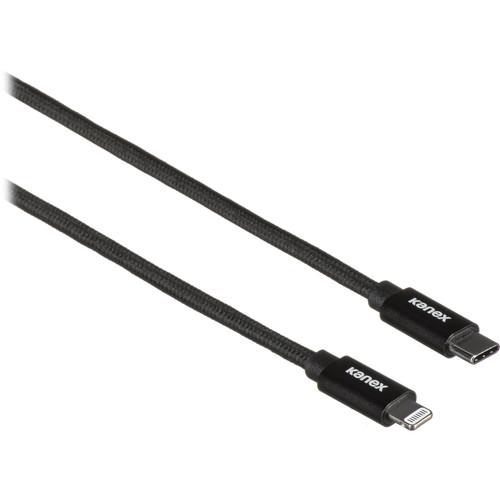 Kanex DuraBraid Premium USB Type-C to Lightning Cable (6', Matte Black)