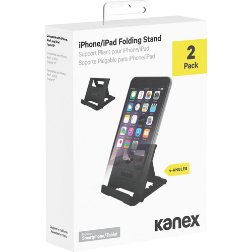 Kanex Foldable iDevice Stand (2-Pack, Black)