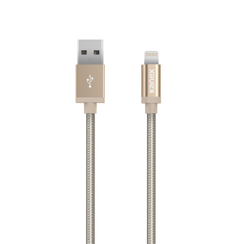 Kanex Premium Lightning to USB Charge and Sync Cable (6', Gold)