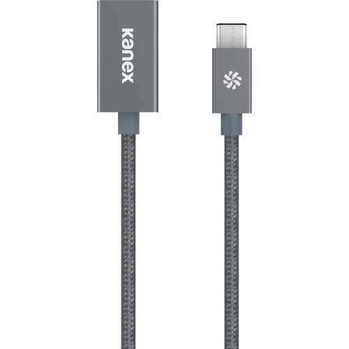 "Kanex USB 3.0 Type-C Male to Type-A Female Adapter (8"", Space Gray)"