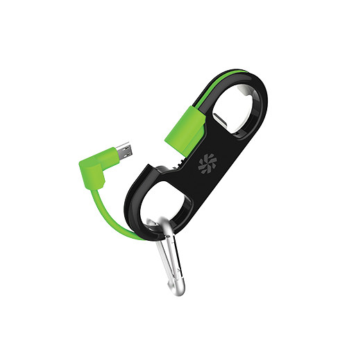 Kanex GoBuddy+ Charge and Sync Cable with micro-USB Connector (Black-Green)