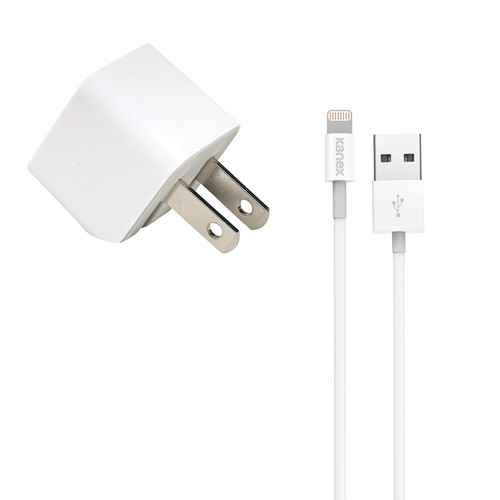 Kanex Kanex 1A USB Mini Wall Charger (Lightning, White, 4')