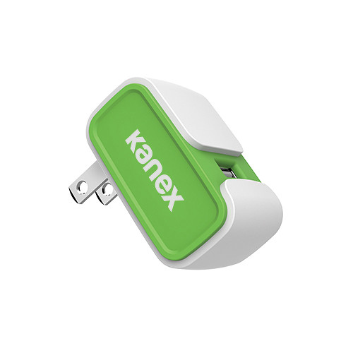 Kanex MiColor USB Wall Charger V2- 2.4A (Green)