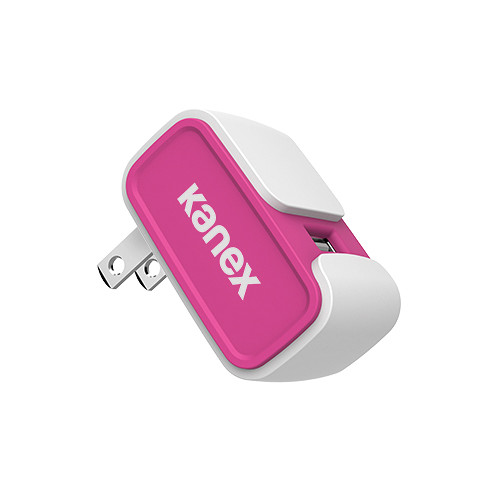 Kanex MiColor USB Wall Charger V2- 2.4A (Pink)