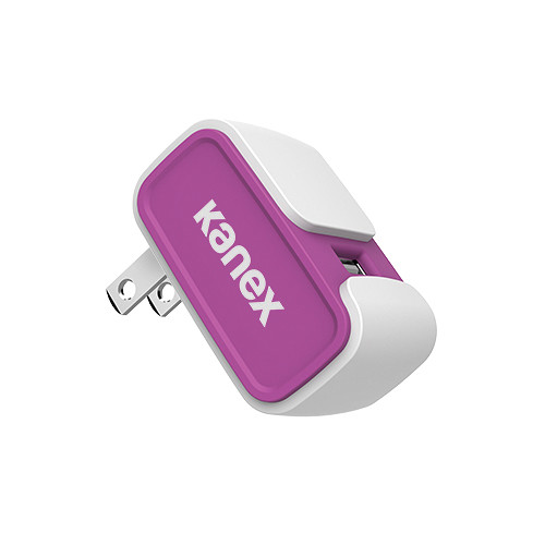 Kanex MiColor USB Wall Charger V2- 2.4A (Purple)