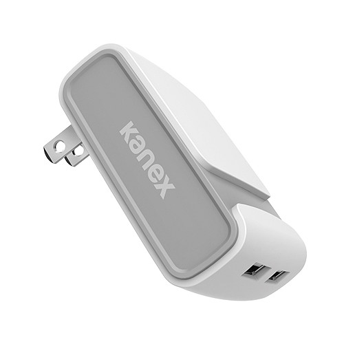 Kanex 2-Port 4.8 A USB Wall Charger V2 (White)