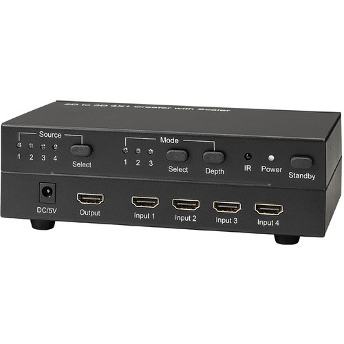 KanexPro CubeUp 4x1 HDMI Switcher with 2D to 3D Converter