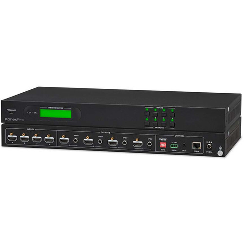 KanexPro 4x4 HDMI 2.0 Matrix Switcher with 4K / 60 Hz