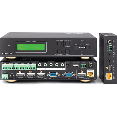 KanexPro 5-Input Multi-Presentation Scaler & Switcher with HDBaseT Out