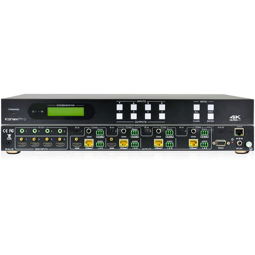 KanexPro 4K HDBaseT 4x4 Matrix Switcher with PoE