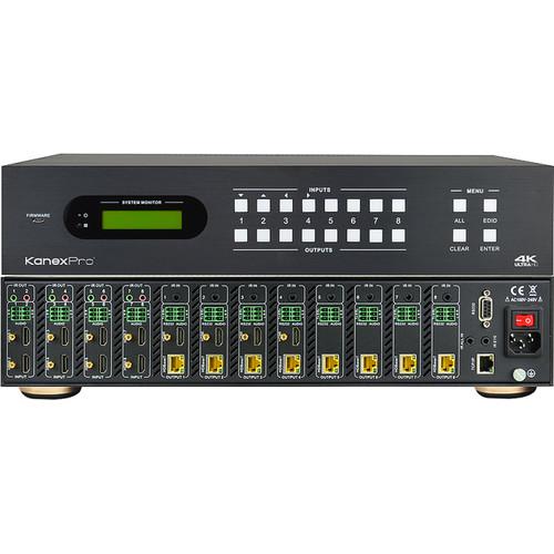 KanexPro 4K HDBaseT 8x8 Matrix Switcher with PoE