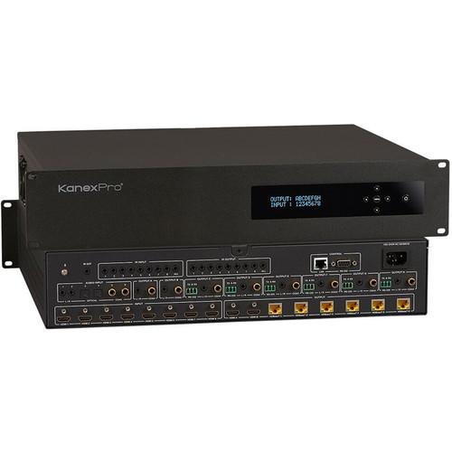KanexPro 4K/60 HDBaseT 8x8 Matrix Switcher with Audio Matrix