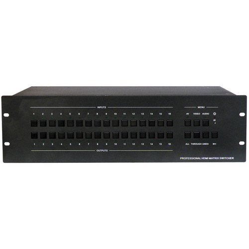 KanexPro Professional HDMI 16x16 Matrix Switcher with RS-232