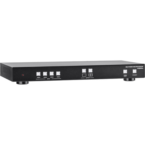 KanexPro Quad Multiview 4x1 KVM Switch HDMI 2.0 4K/60Hz HDR with USB 3.0
