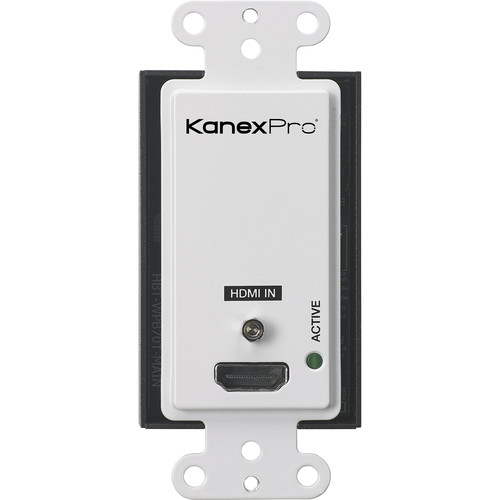 KanexPro Single HDMI 2.0 over HDBaseT Wallplate with IR & PoC