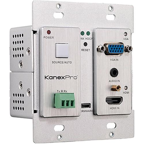 KanexPro HDBaseT VGA & HDMI over CAT6 Wall Plate Transmitter