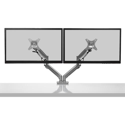 Kanto Living DMG2000S Desktop Dual Monitor Mount (Silver)