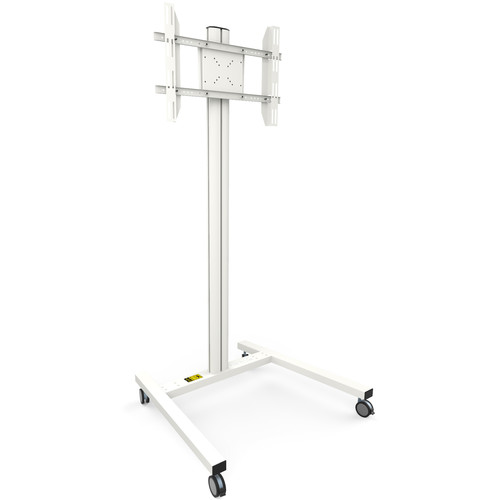 """Kanto Living MKH65 Rolling TV Stand For 37-65"""" Displays (White)"""