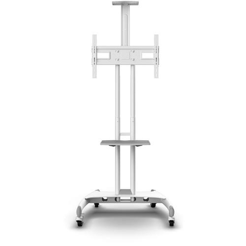 "Kanto Living Mobile TV Cart with Adjustable Shelf for 37 to 65"" Displays (White)"
